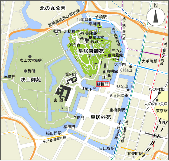 宮内庁地図