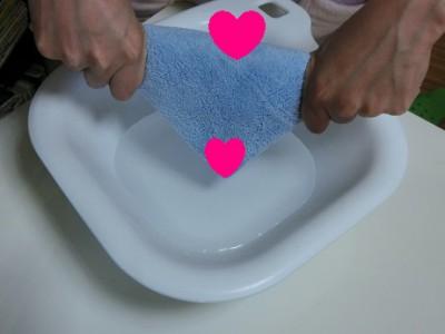 蒸しタオル濡らし方